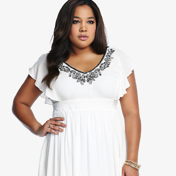 torrid Dresses | New Plus Size White Gauze Dress | Poshmark